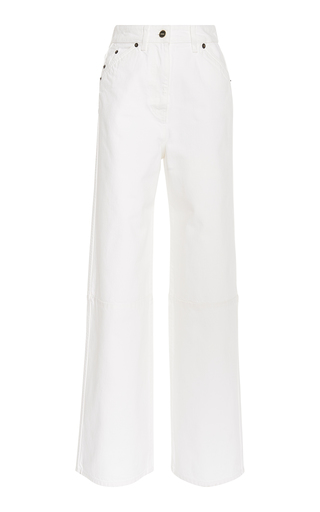 JACQUEMUS   Jacquemus Prago High-Rise Wide-Leg Jeans   Goxip
