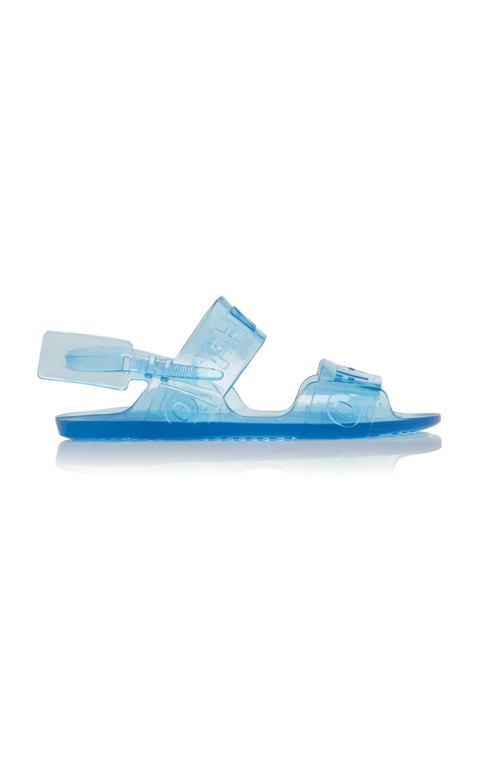 10Mm Zip Tie Jelly Sandals in Blue