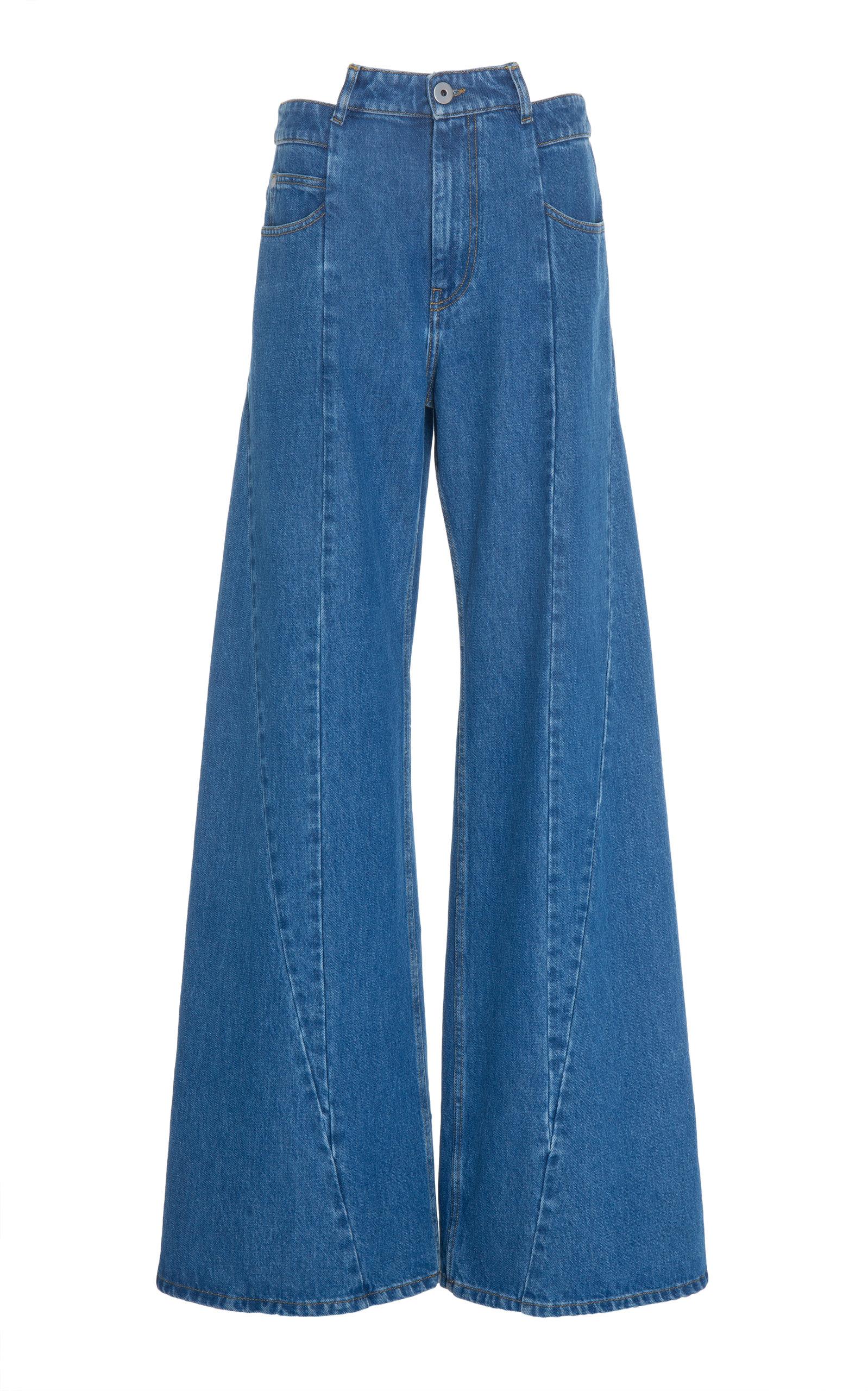 0876a2d82c977f Wide Leg Cutout Waist Jeans by Maison Margiela   Moda Operandi