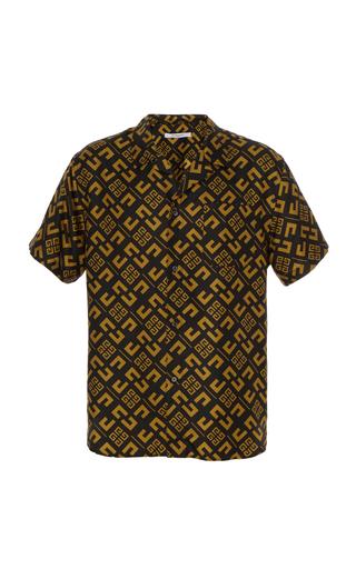 GIVENCHY   Givenchy Logo-Print Silk-Twill Shirt   Goxip