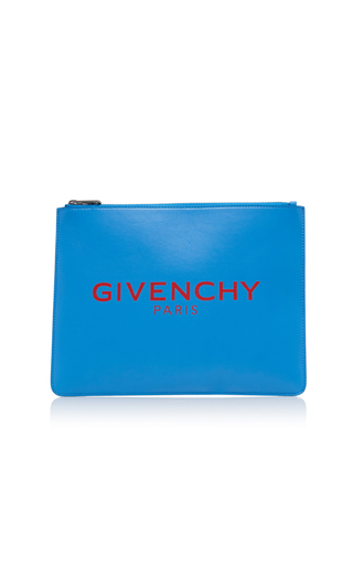 GIVENCHY | Givenchy Large Leather Zip Pouch | Goxip