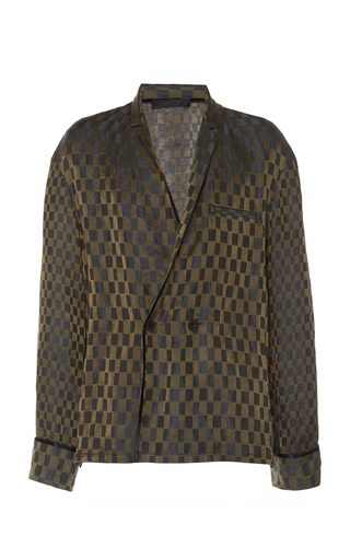 HAIDER ACKERMANN | Haider Ackermann Checkered Linen and Silk-Blend Shirt | Goxip