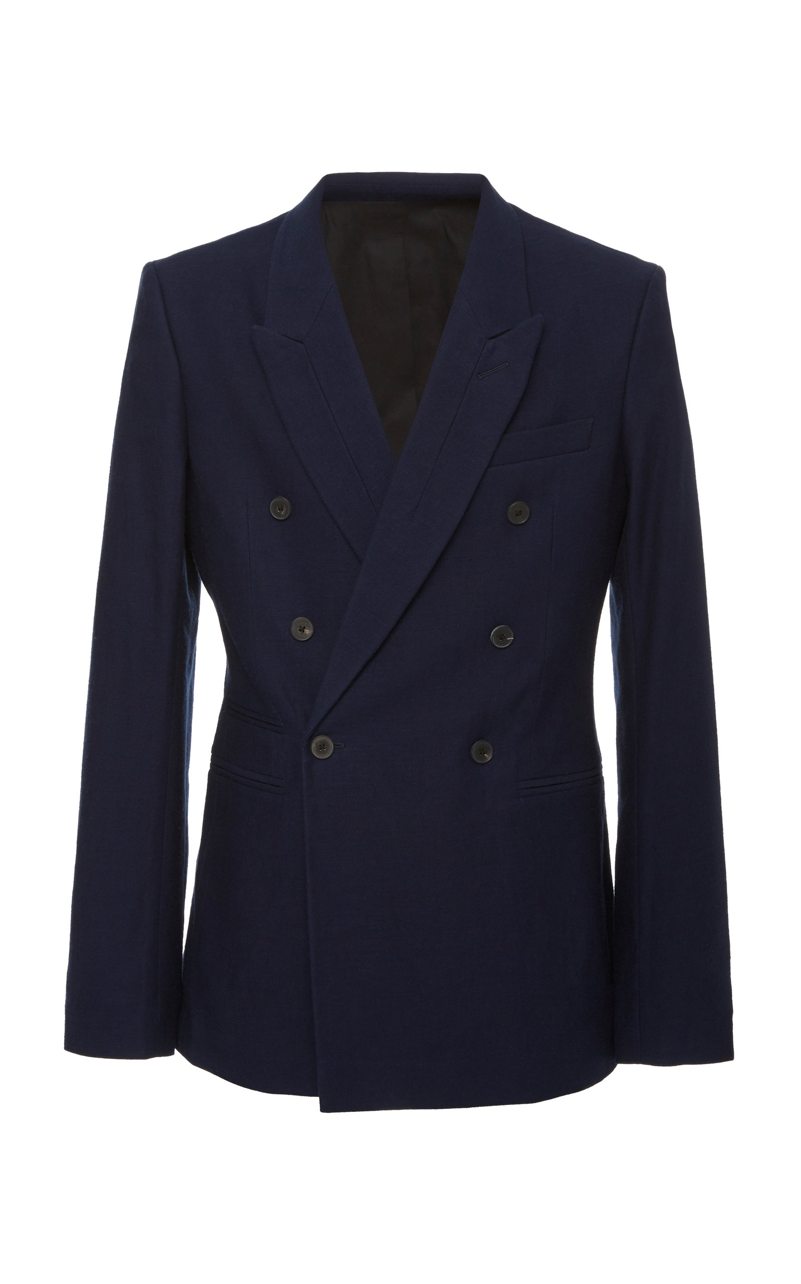 Haider Ackermann Blazers DOUBLE-BREASTED COTTON BLAZER