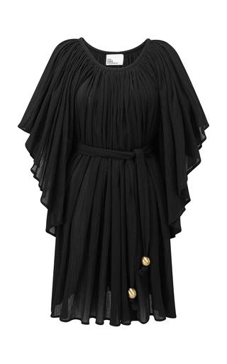 Lisa Marie Fernandez BELTED COTTON-VOILE MINI DRESS
