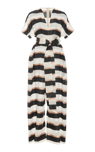 298792efbc Lisa Marie FernandezRosetta Striped Jersey Jumpsuit