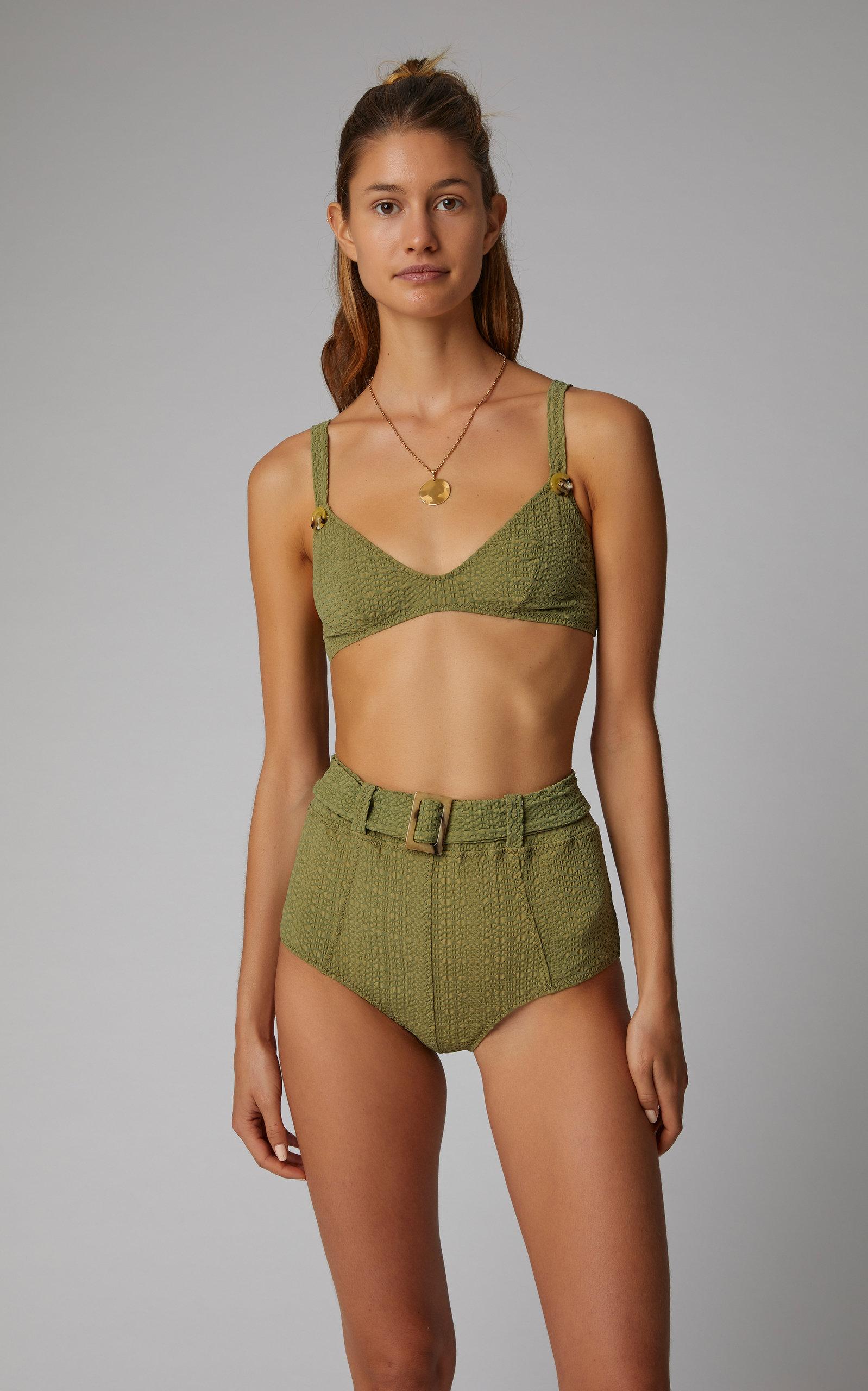 591c63702bab0 Magdalena Belted High-Waist Bikini by Lisa Marie | Moda Operandi