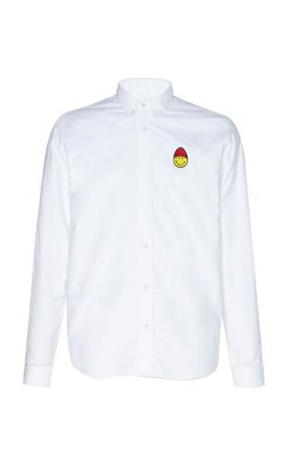 AMI | AMI Logo-Embroidered Cotton Oxford Shirt | Goxip