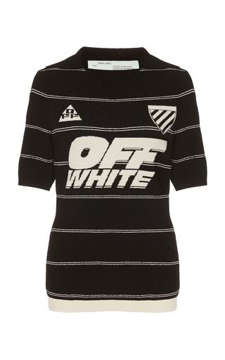 79256727bbf Off-White c o Virgil AblohStriped Knit Polo T-Shirt