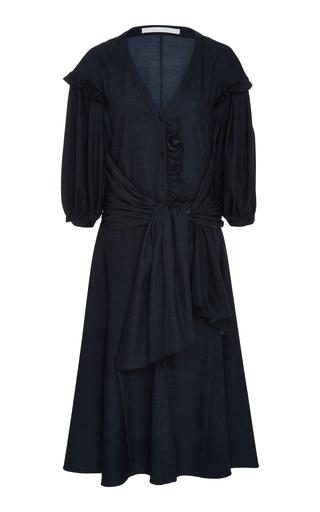 AUDRA   AUDRA Denim Puff Sleeve Shirt Dress   Goxip