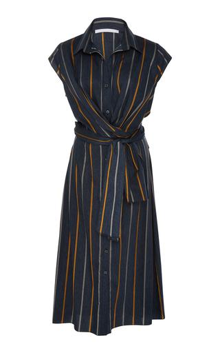 AUDRA   AUDRA Twist Stripe Shirt Dress   Goxip
