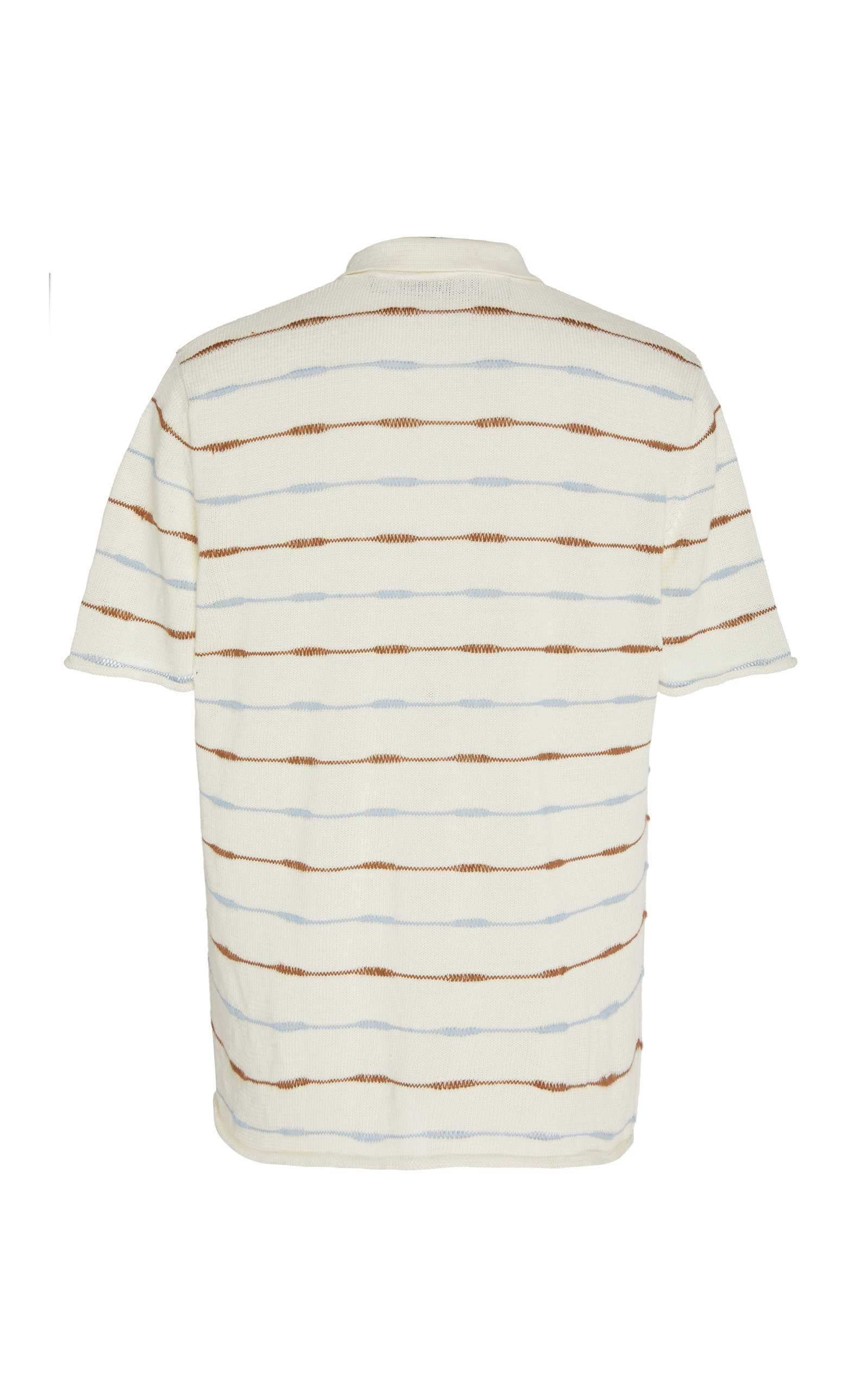 La Chemise Maille Striped Linen Polo Shirt By Moda Operandi