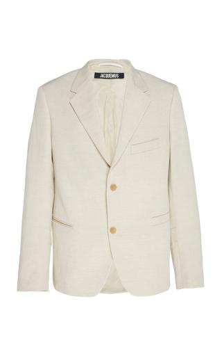 JACQUEMUS | Jacquemus La Veste De Costume Linen-Blend Sport Coat | Goxip