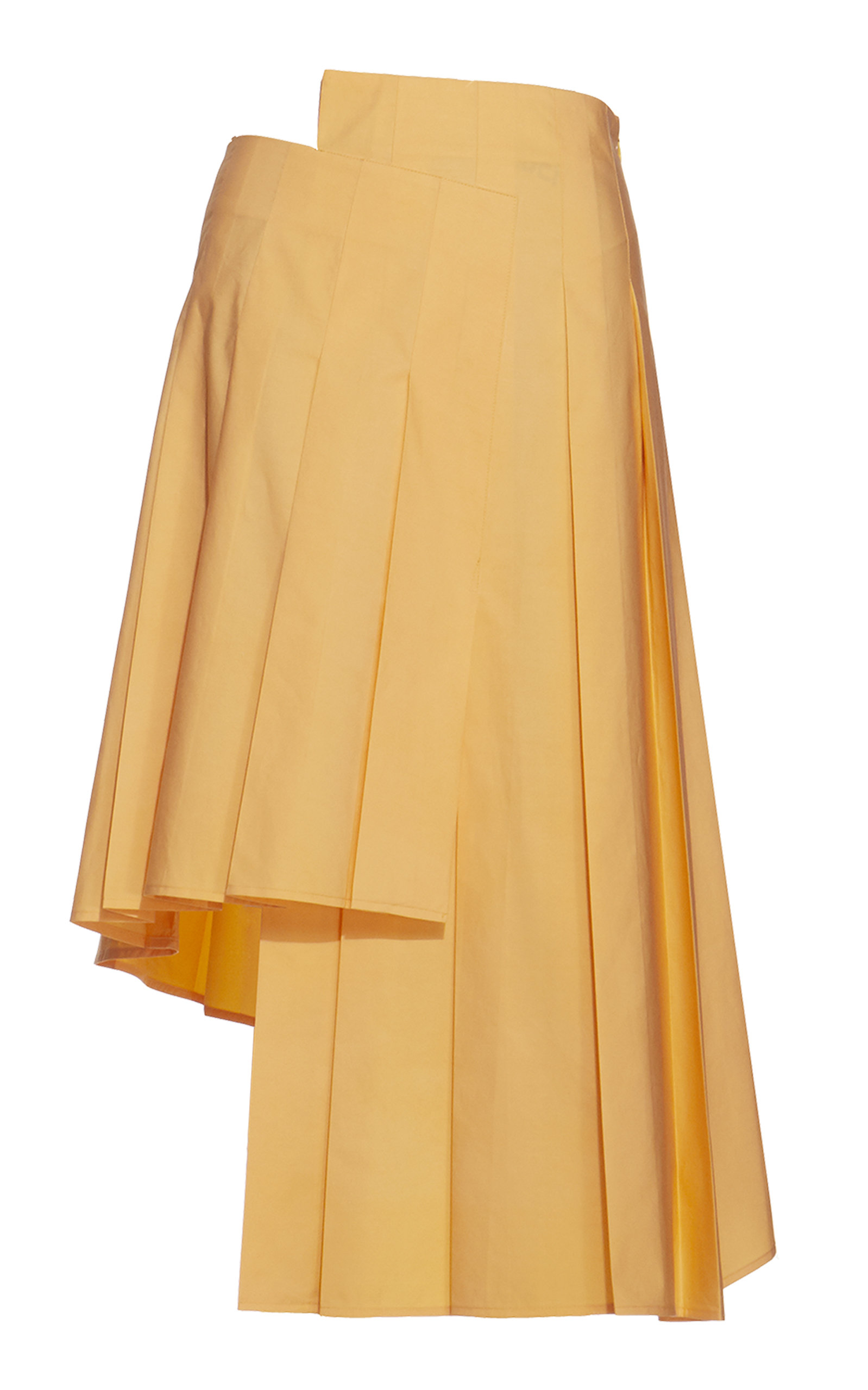 Ji Oh UNBALANCED PLEAT SKIRT