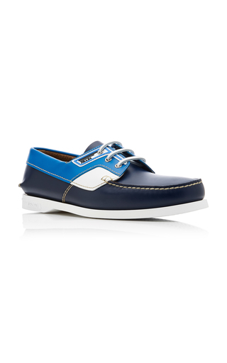 d1f7a356b53 PradaColor-Blocked Leather Boat Shoes