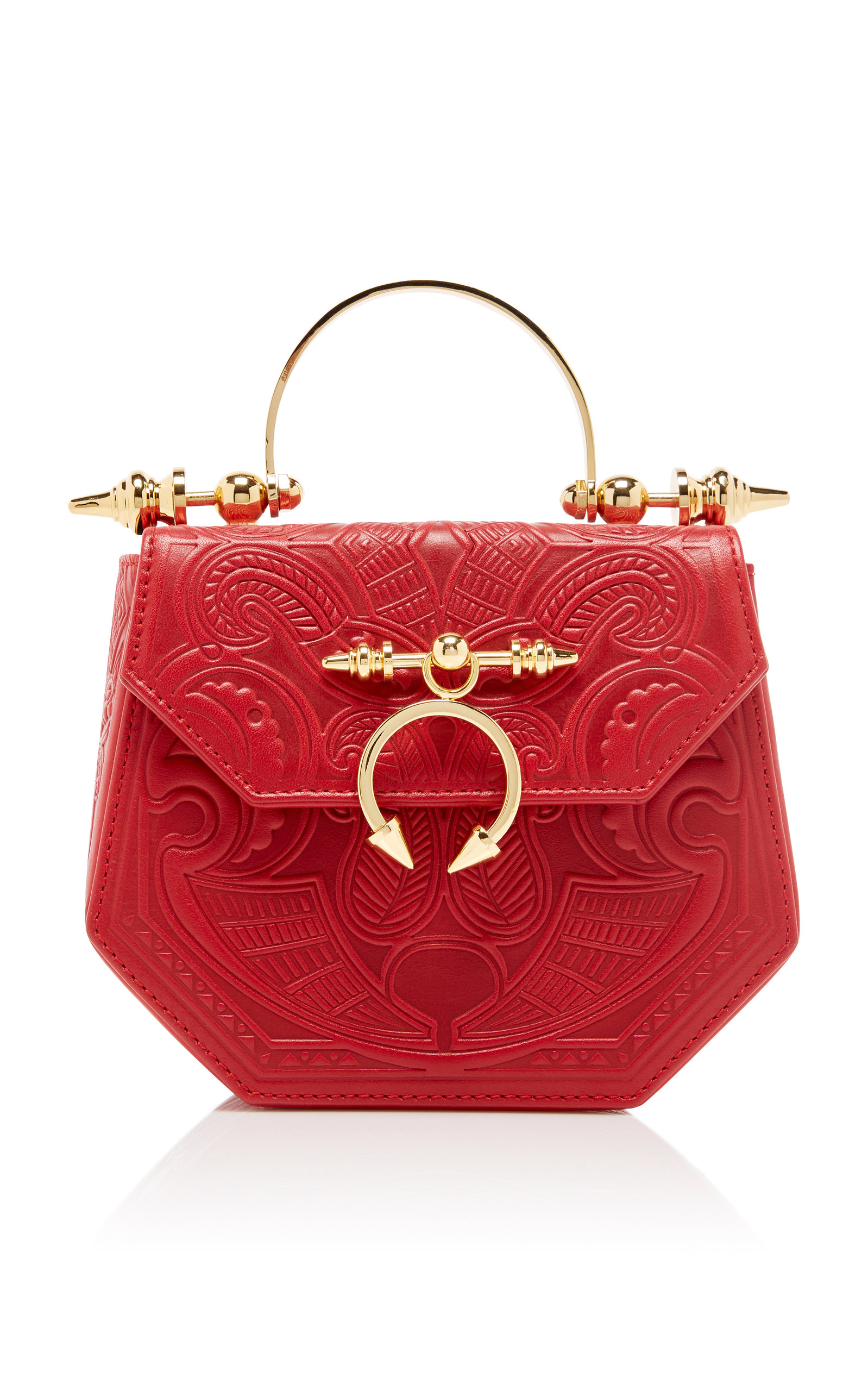 Okhtein Bags EMBOSSED THE PINE MINAUDIERE