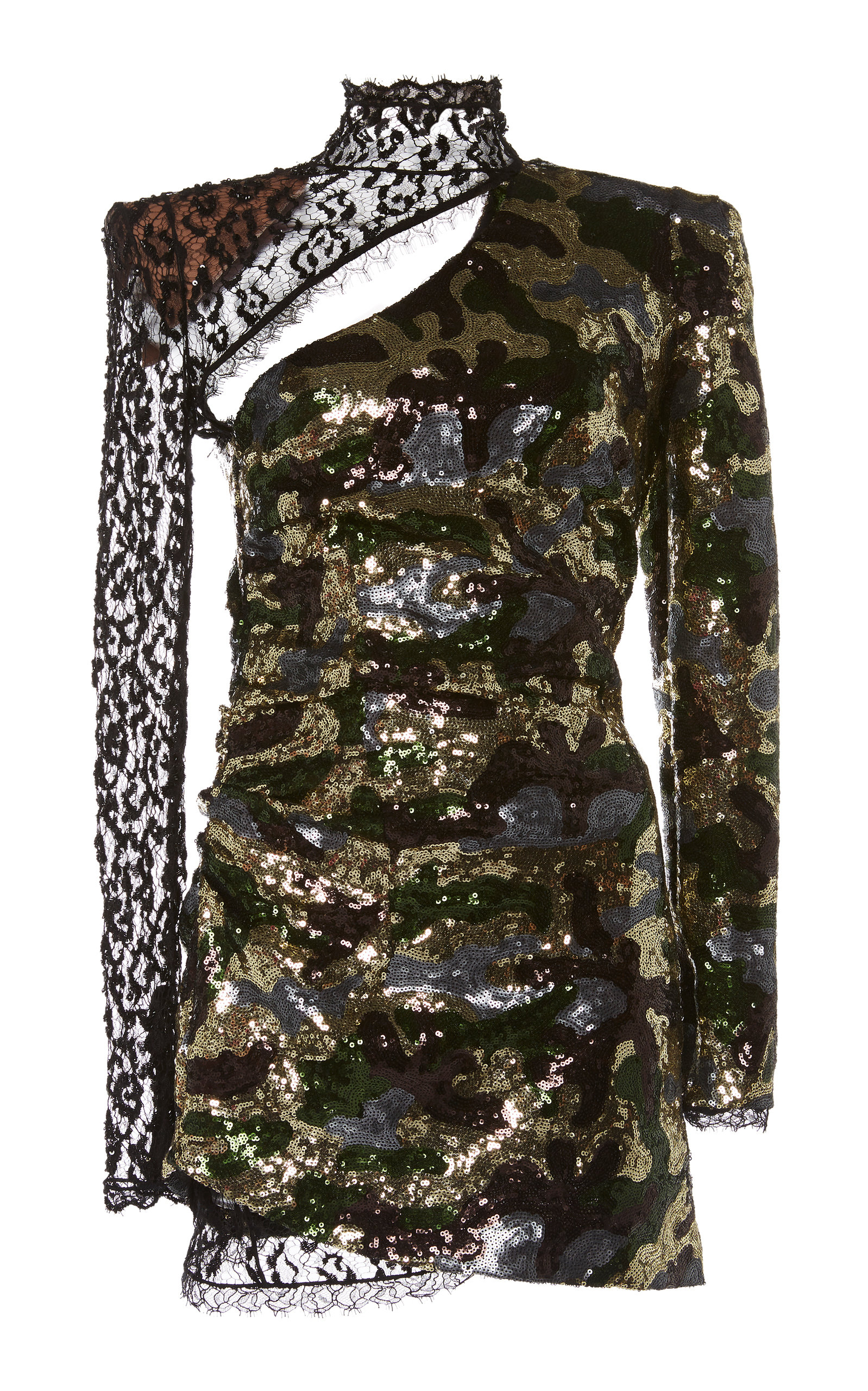 DUNDAS | Dundas Camouflage Sequin And Lace Dress | Goxip