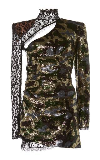 DUNDAS | Dundas Camouflage Sequin and Lace Dress | Goxip