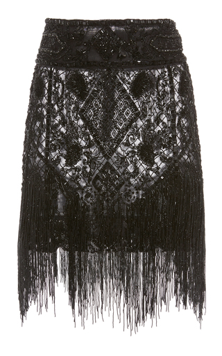 DUNDAS | Dundas Embroidered Tulle Mini Skirt | Goxip