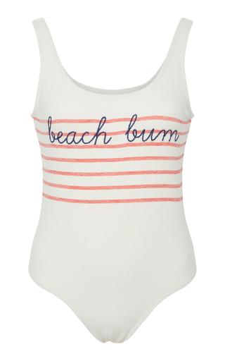 BRUNA MALUCELLI | Bruna Malucelli Custom Bay My Name Boucle One Piece Swimsuit | Goxip