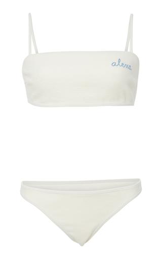 BRUNA MALUCELLI | Bruna Malucelli Custom Marina Boucle Bandeau Bikini Set | Goxip