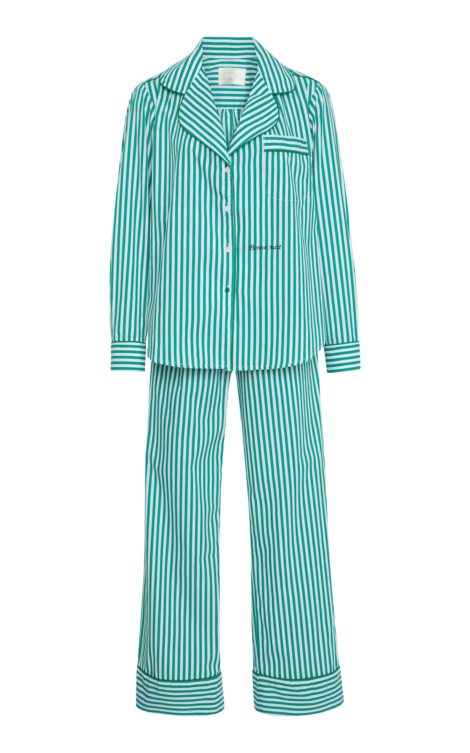 PIU LIFESTYLE CUSTOM THE DANIELLA LONG COTTON PAJAMA SET