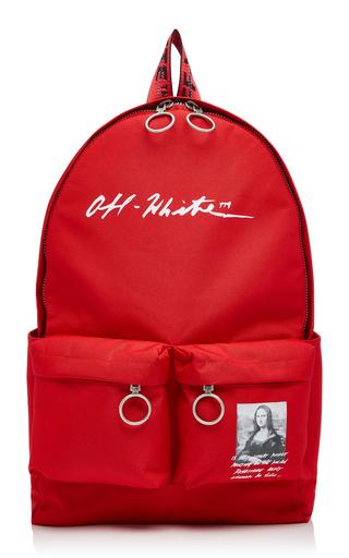 OFF-WHITE | Off-White c/o Virgil Abloh Monnalisa Dual-Pocket Logo Backpack | Goxip