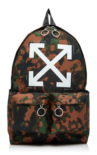 OFF-WHITE C/O VIRGIL ABLOH | Off-White c/o Virgil Abloh Camou Arrow Backpack With Zip Pockets | Goxip