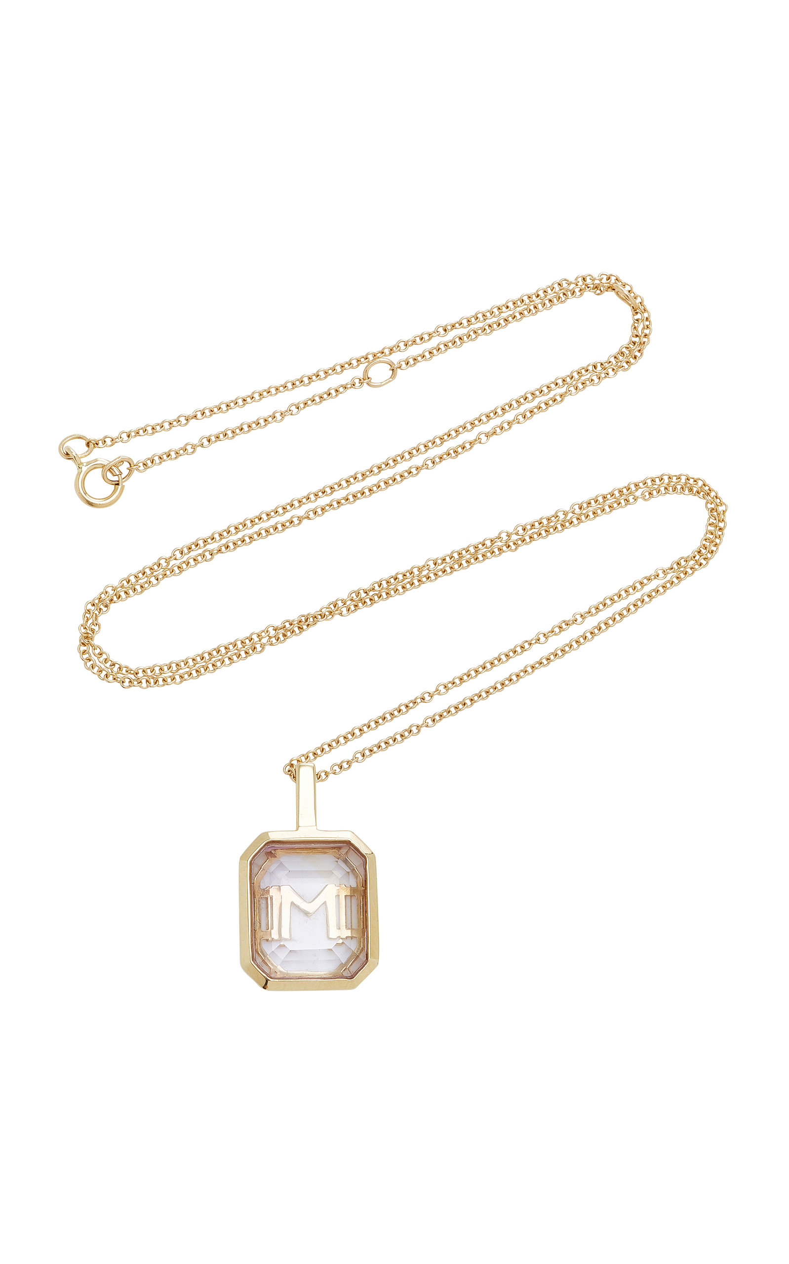 MATEO M'ONOGRAM ROSE DE FRANCE INITIAL NECKLACE