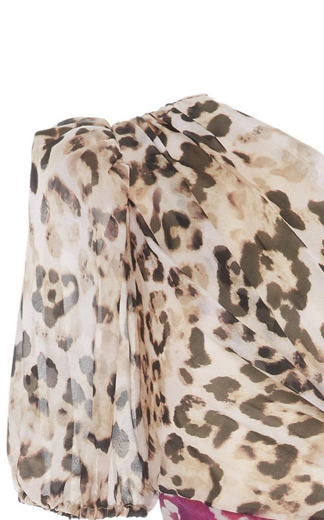 6dca1d9dc8 AMURJaylah One-Shoulder Printed Silk-Chiffon Midi Dress. CLOSE. Loading.  Loading. Loading