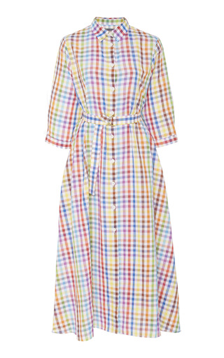 MDS STRIPES | MDS Stripes Picnic Gingham Shirt Dress | Goxip