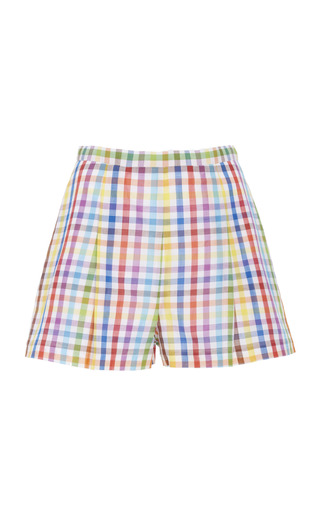 MDS STRIPES | MDS Stripes Picnic Pleated Cotton Shorts | Goxip