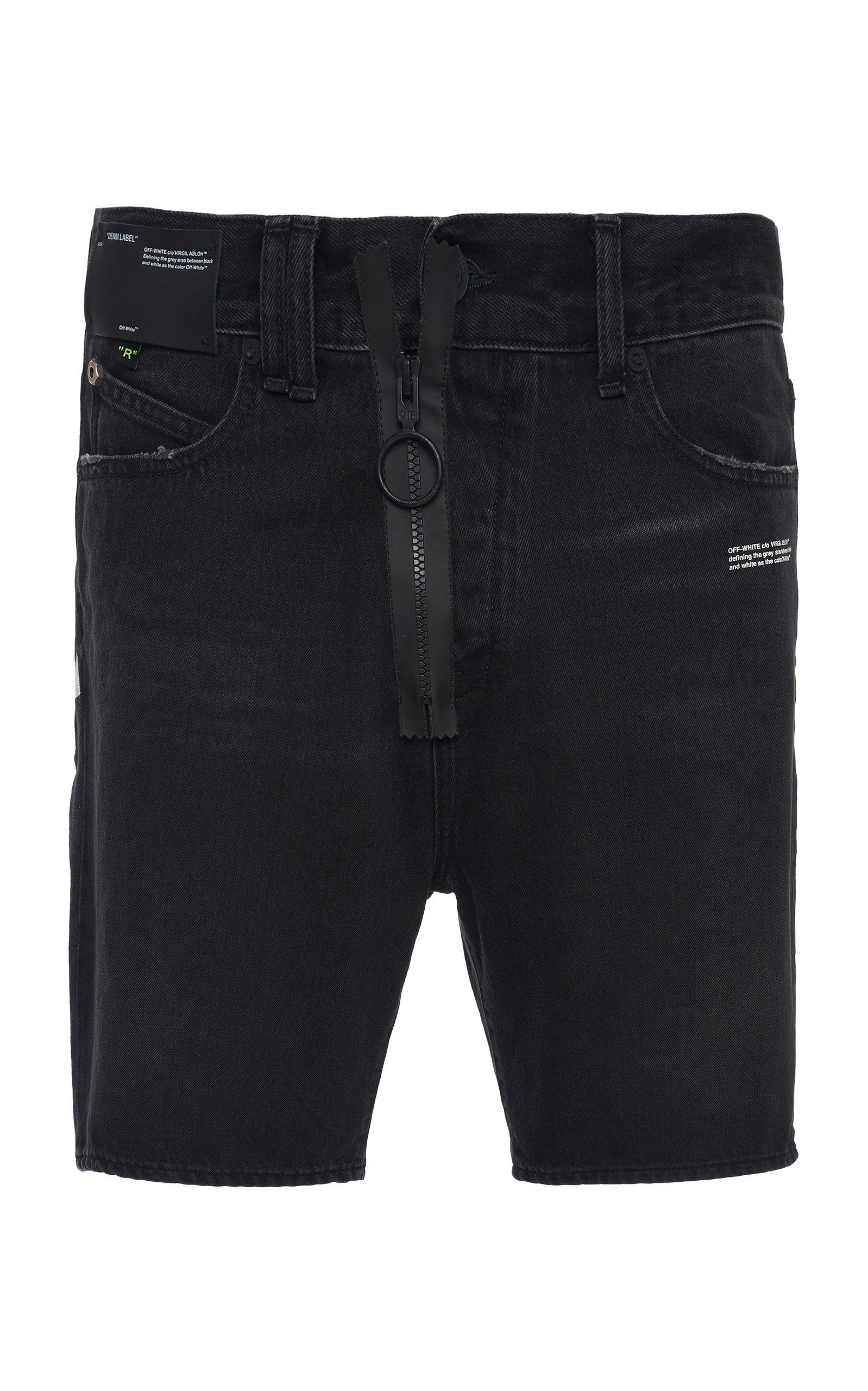eb62c2d412a1 Off-White c o Virgil AblohDenim Slim-Leg Shorts. CLOSE. Loading