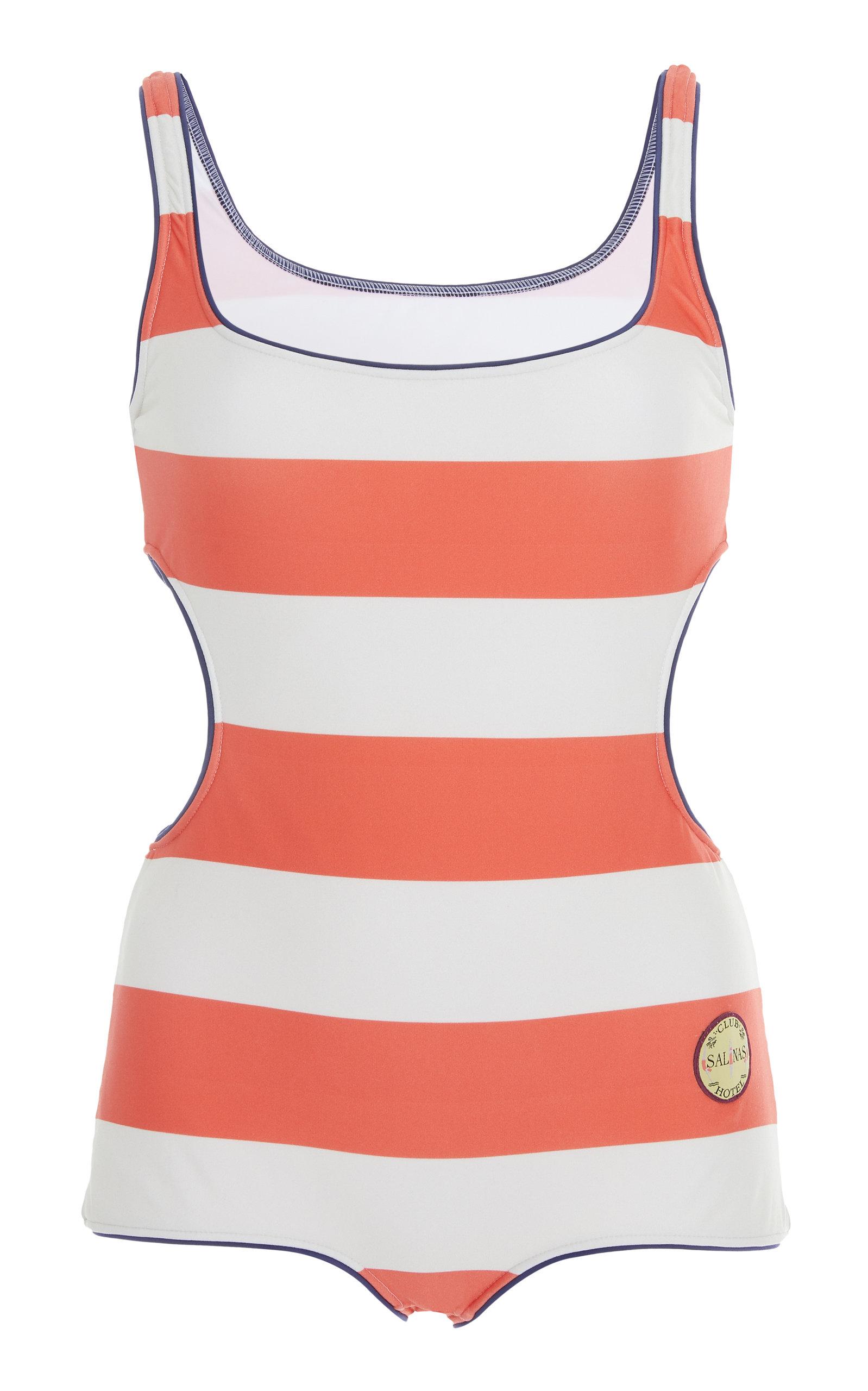 SALINAS Retro Speed One-Piece Swimsuit in Stripe