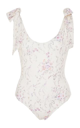 LOVESHACKFANCY | LoveShackFancy Posy Floral-Print Swimsuit | Goxip