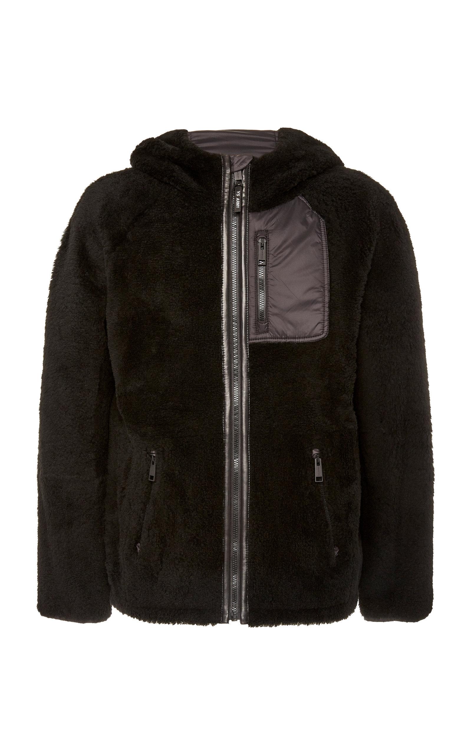59a7df359540 Yves Salomon Paris Curly Merinos Lamb Hooded Jacket