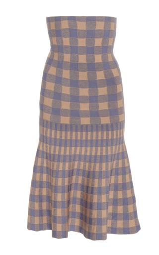 PEPA POMBO | Pepa Pombo Fresno Gingham Flared Skirt | Goxip
