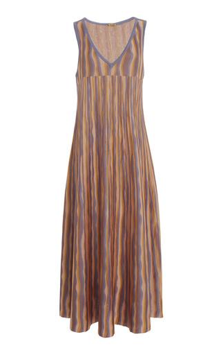 PEPA POMBO | Pepa Pombo Guadalupe Stripe Midi Dress | Goxip