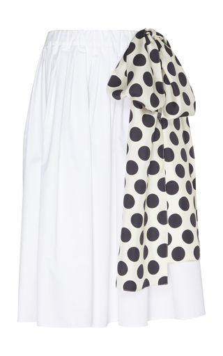 DICE KAYEK | Dice Kayek Wide Cotton Blend Skirt | Goxip