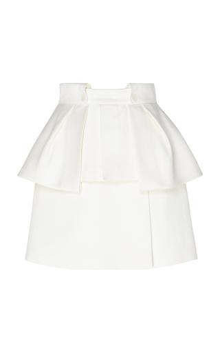 DICE KAYEK | Dice Kayek Peplum Cotton-Blend Mini Skirt | Goxip