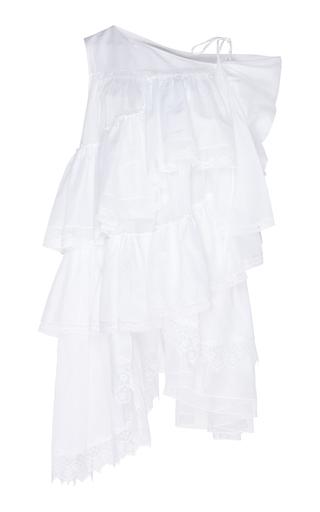 DICE KAYEK | Dice Kayek Asymmetrical Cotton Mini Dress | Goxip