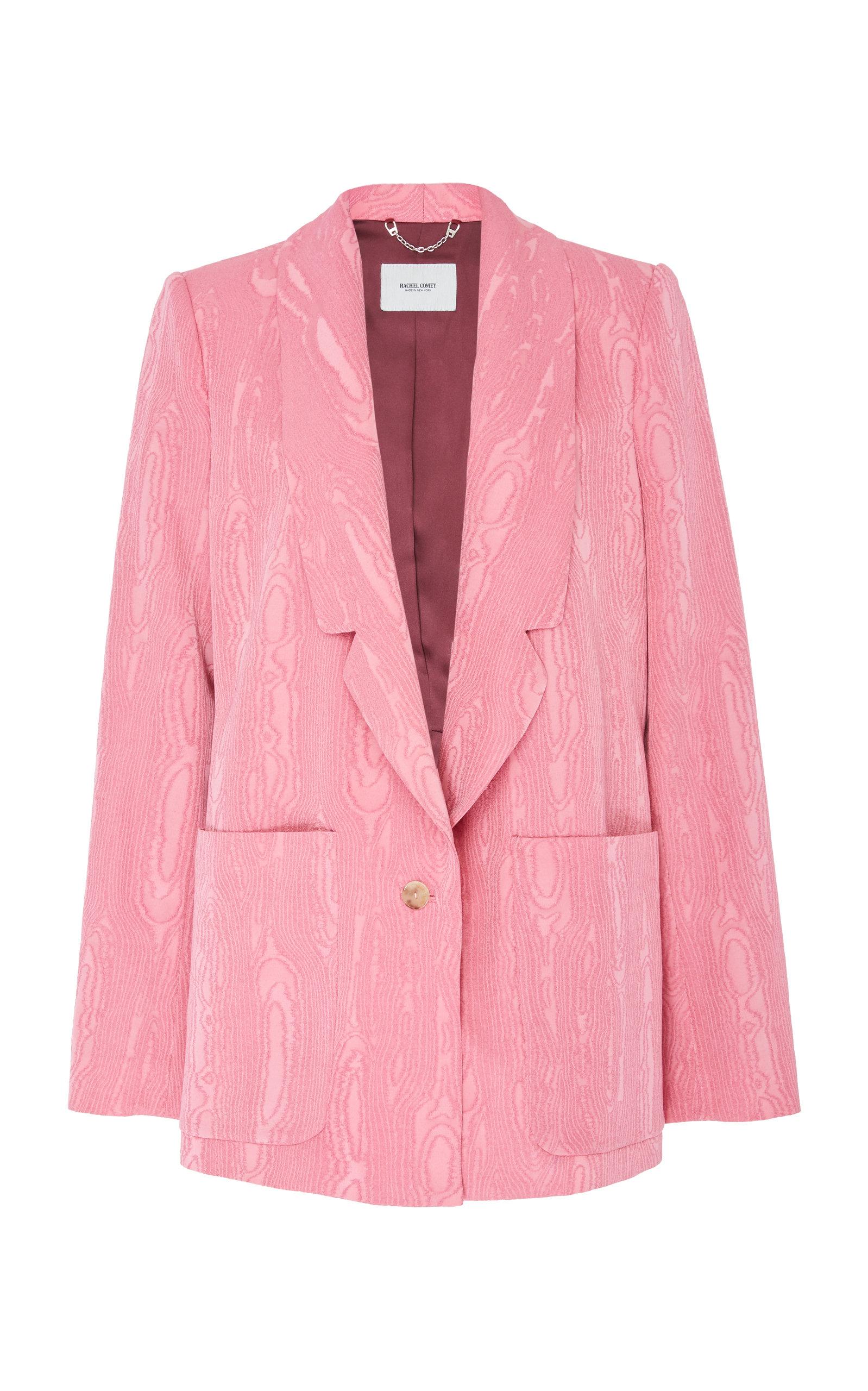 RACHEL COMEY Lovely Wool Blend Moire Blazer in Pink
