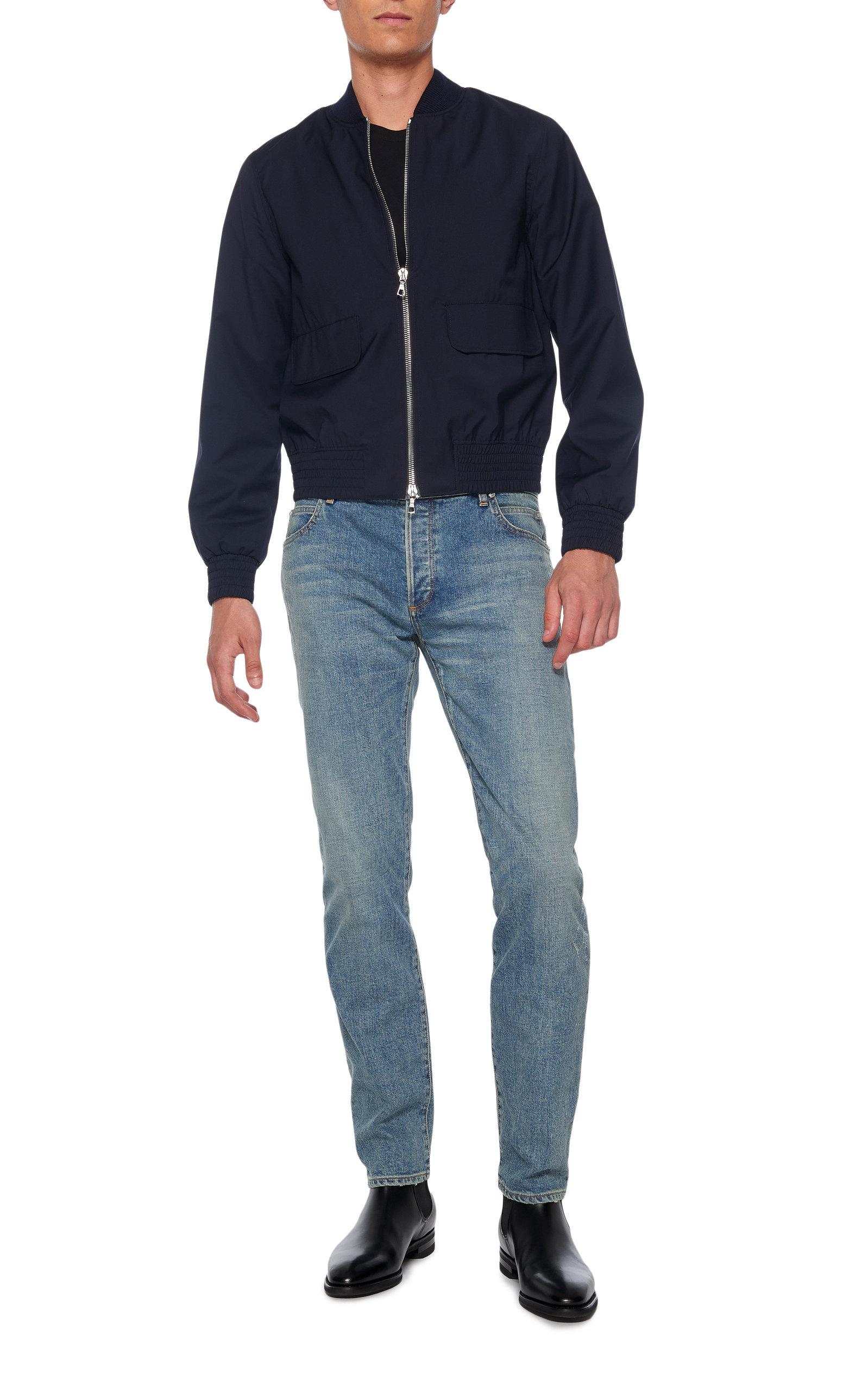 074adec5 Bleached Slim-Fit Jeans by Balmain | Moda Operandi