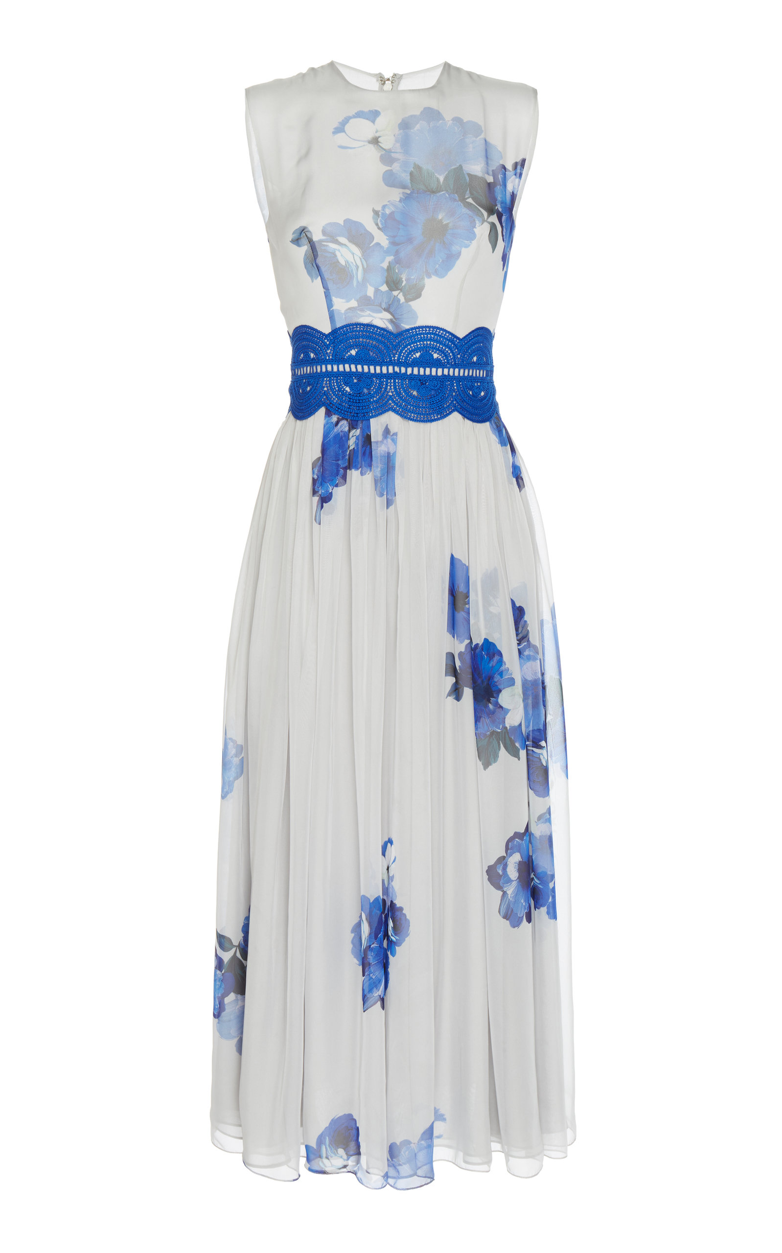02e504b4112 CostarellosSleeveless Printed Chiffon Midi Dress. CLOSE. Loading