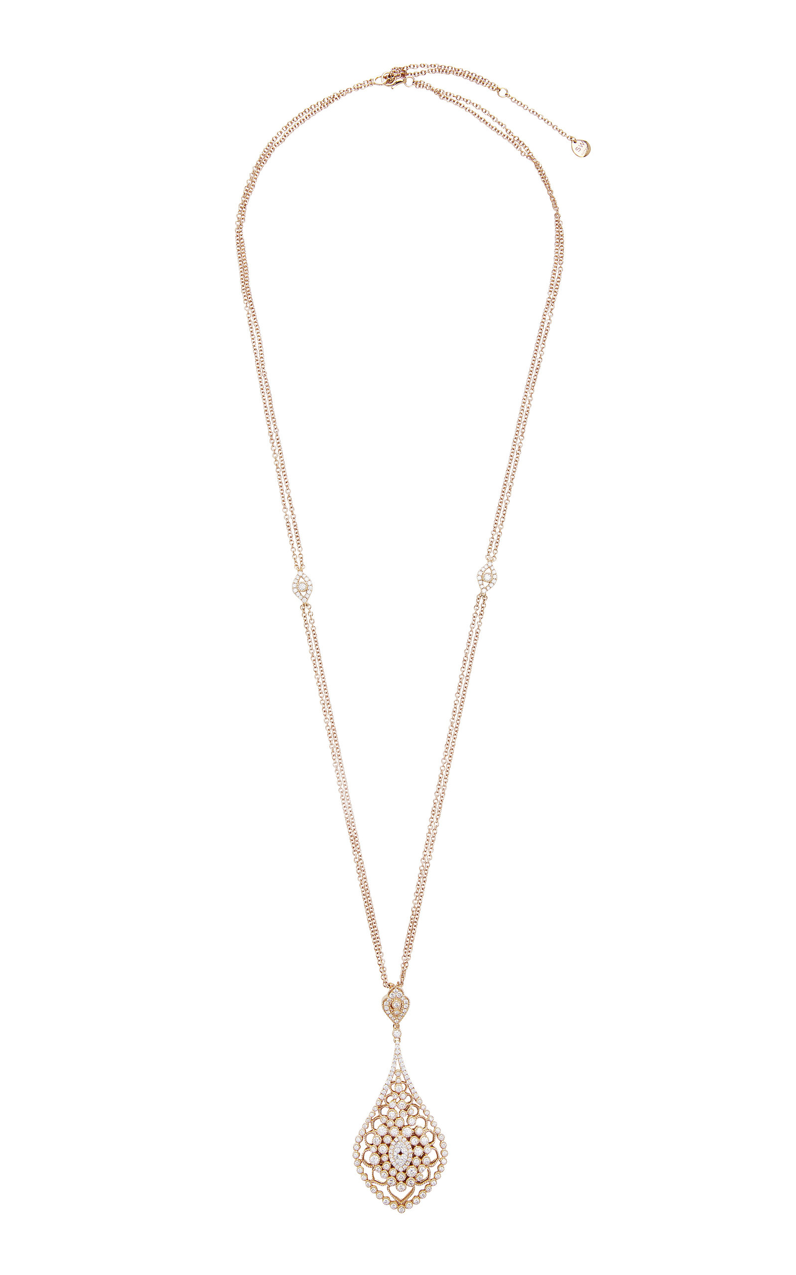 SARA WEINSTOCK BRUT BEZEL REGAL PENDANT NECKLACE