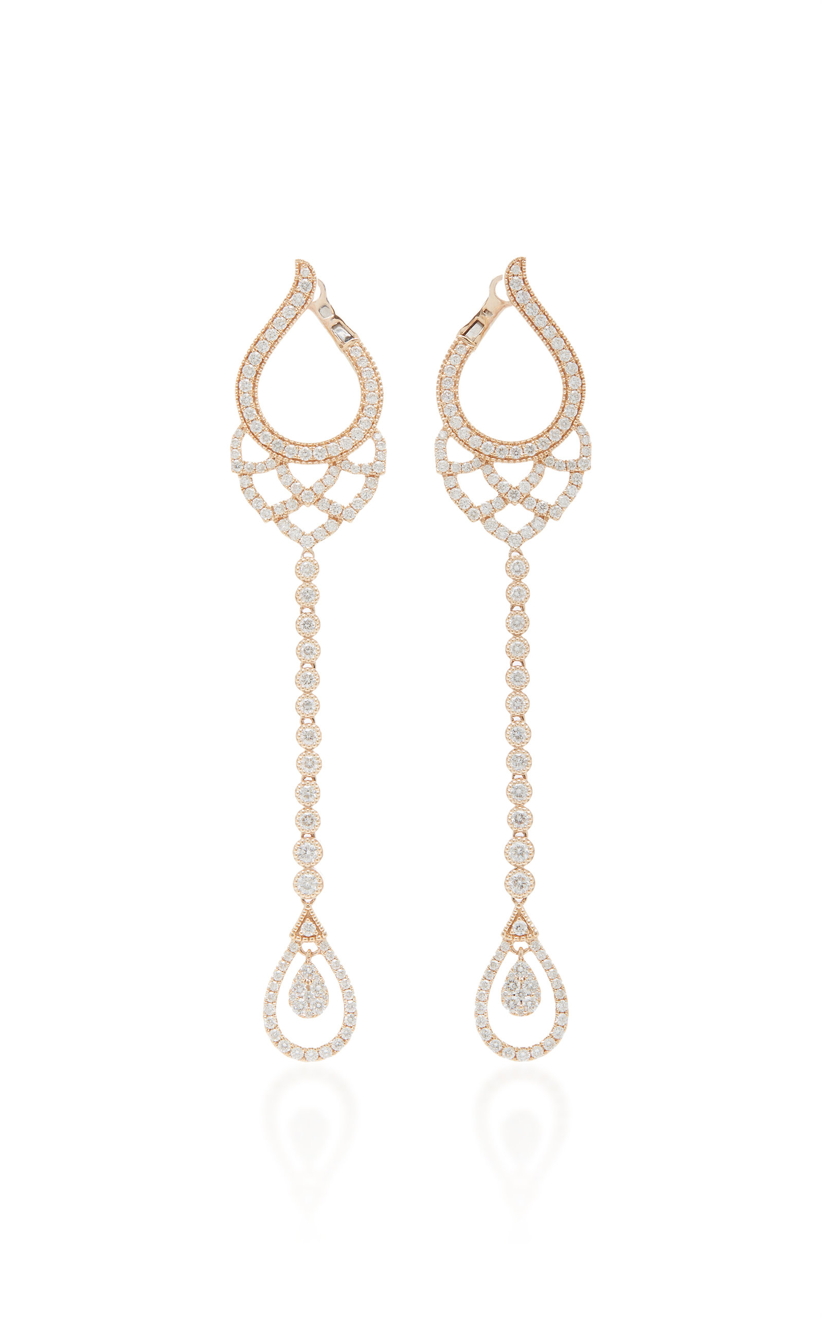SARA WEINSTOCK BRUT BEZEL PETAL DROP EARRINGS