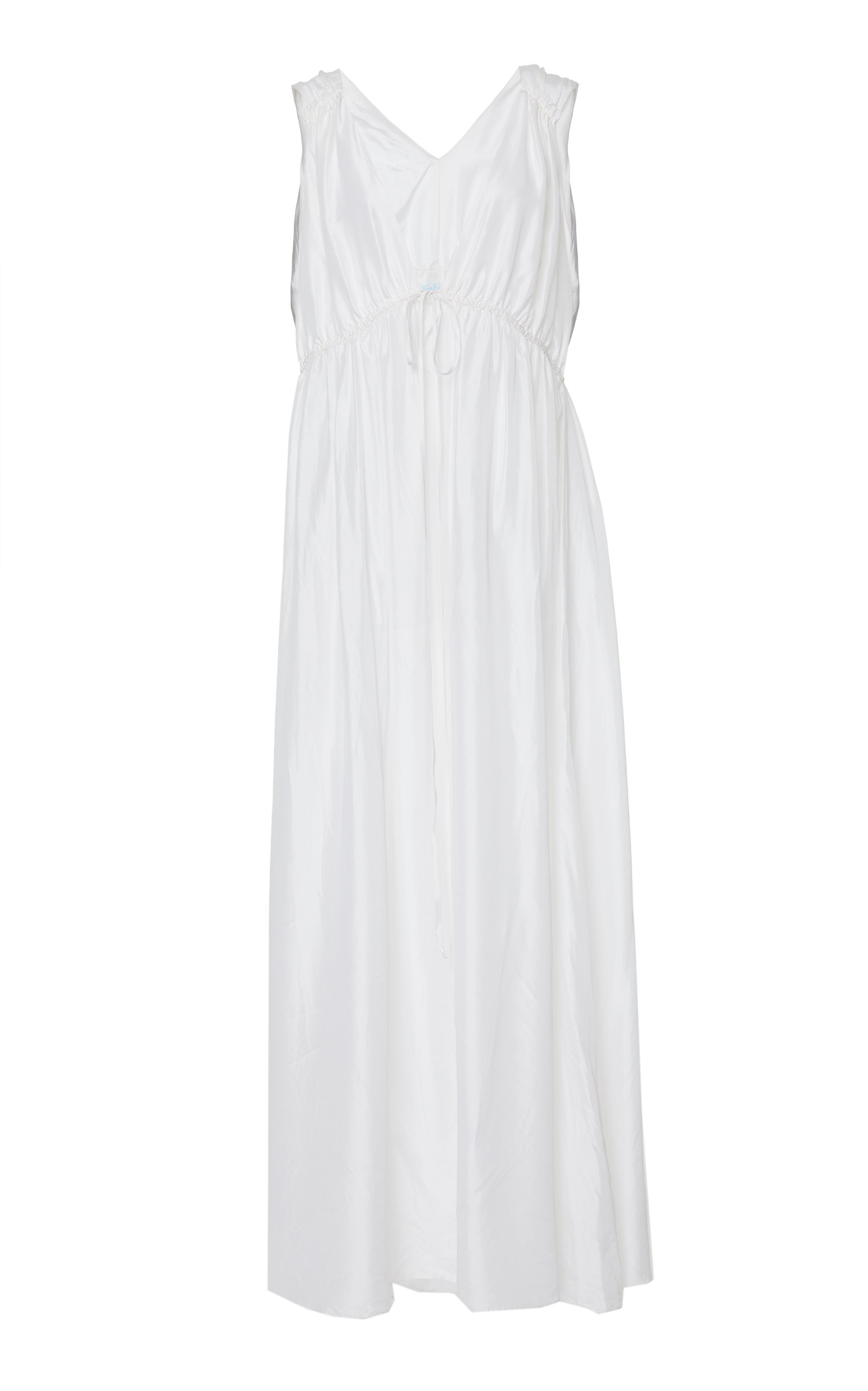 Loup Charmant SIRENA V NECK SILK GOWN