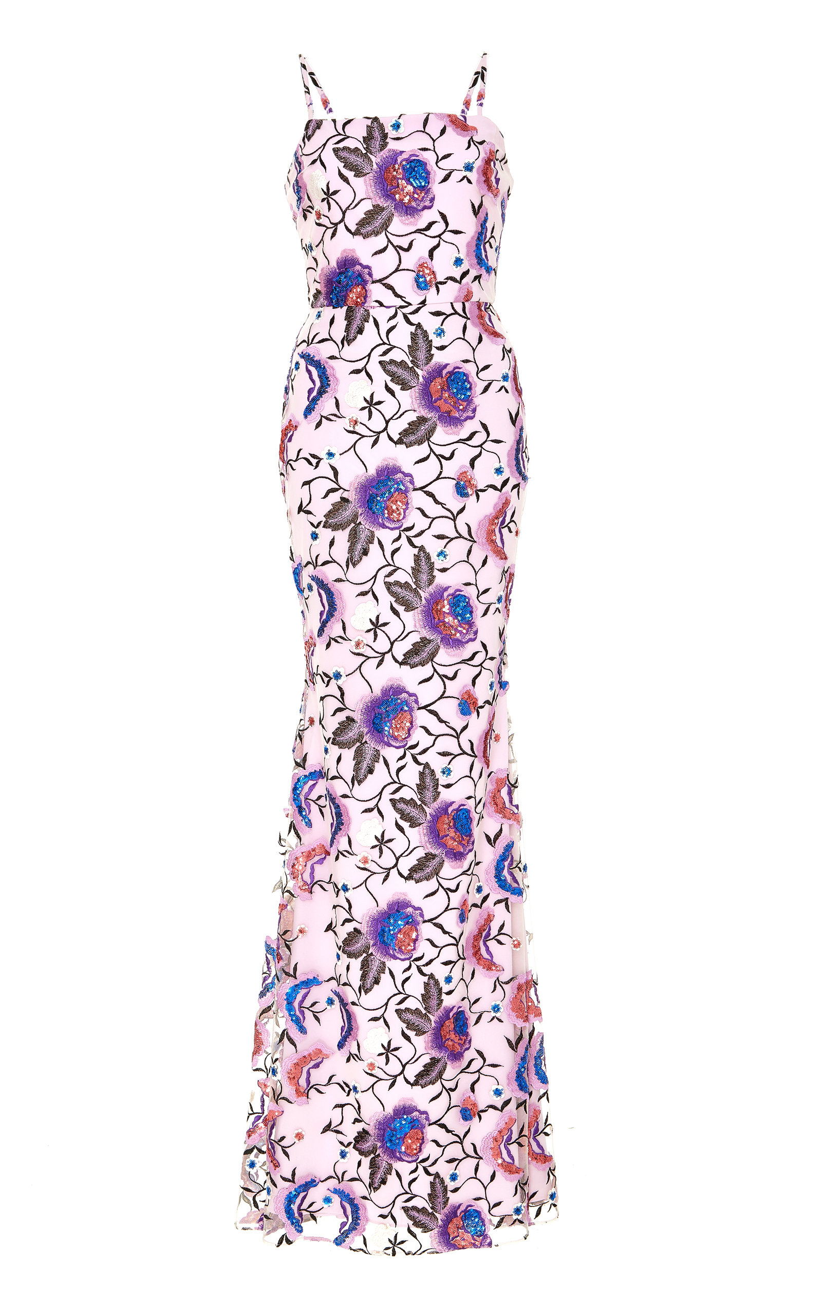 Christian Siriano FLORAL EMBROIDERED GOWN