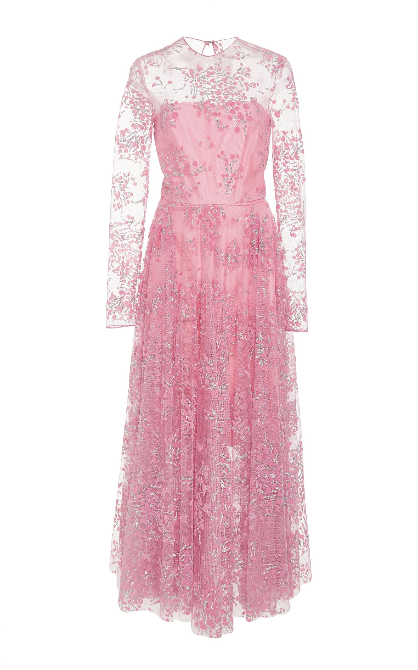 Cherry Blossom Tea Length Dress by Christian Siriano | Moda Operandi