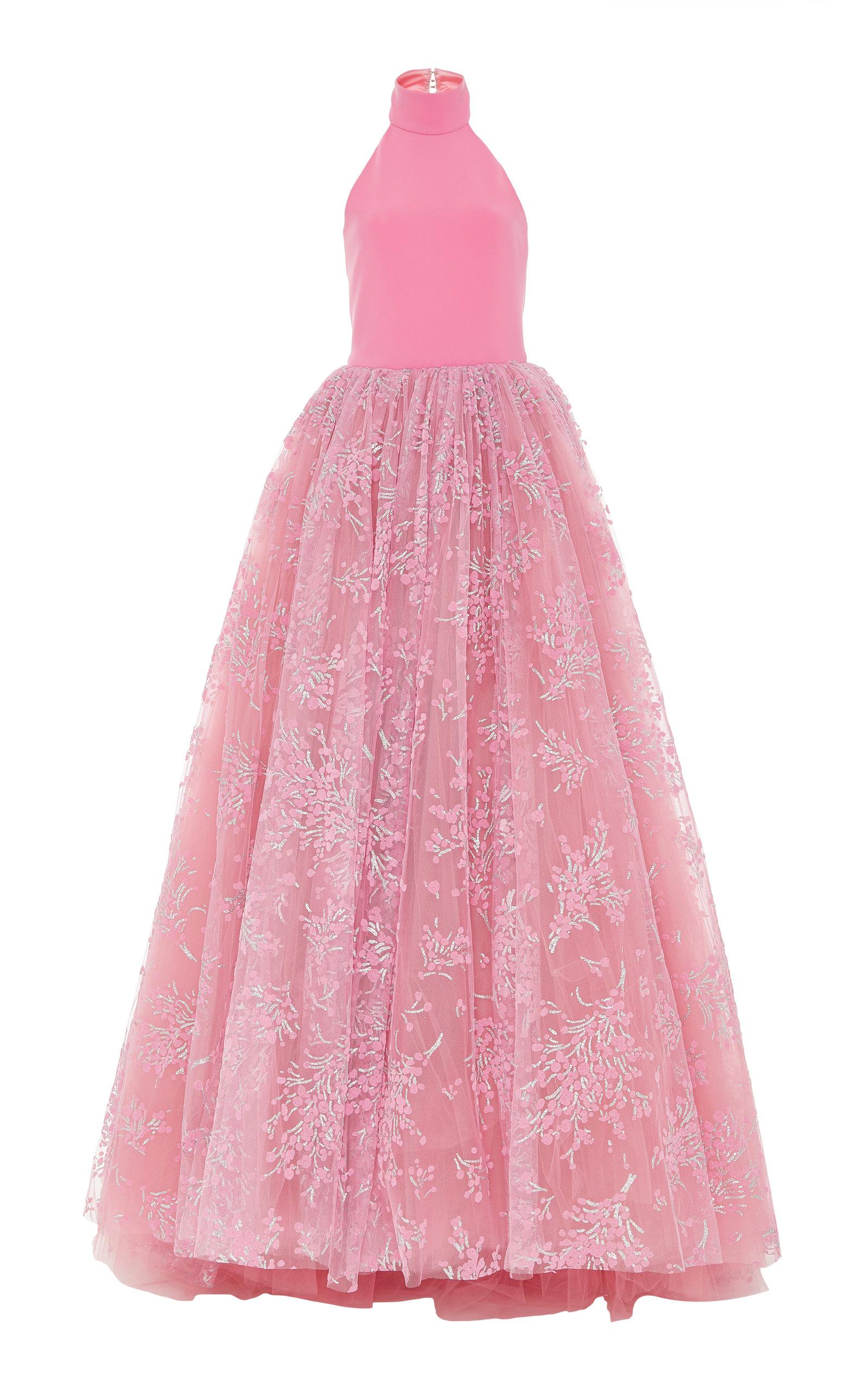 Cherry Blossom High Neck Gown by Christian Siriano | Moda Operandi