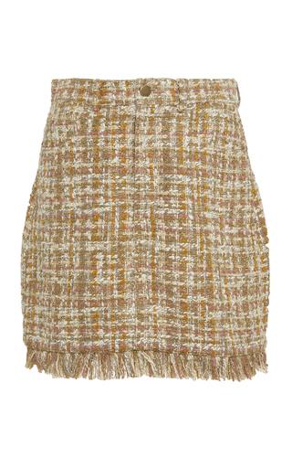 AMUR | AMUR Luann Cotton Tweed Mini Skirt | Goxip